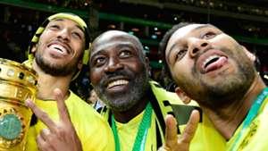 Aubameyang Family Dortmund Frankfurt German Cup Final 05272017
