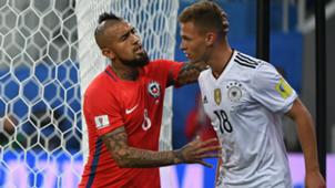 Chile Germany 020717 Arturo Vidal Joshua Kimmich