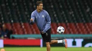 Cristiano Ronaldo Champions League Final training session