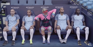 Manchester City and Etihad Airways workout