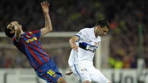 Sergio Busquets Thiago Motta Barcelona Inter Champions League 2010