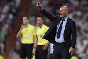 Zinedine Zidane Real Madrid Barcelona Supercopa 16082017