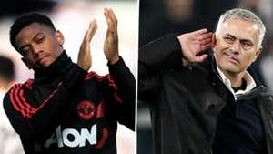 Martial Mourinho Man Utd split