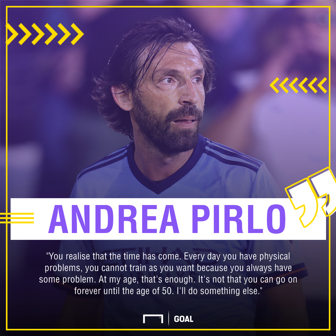 Andrea Pirlo to retire at end of New York City FC contract