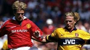 David Beckham Manchester United Emmanuel Petit Arsenal 1998
