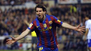 Lionel Messi La Liga Real Zaragoza Barcelona 2010