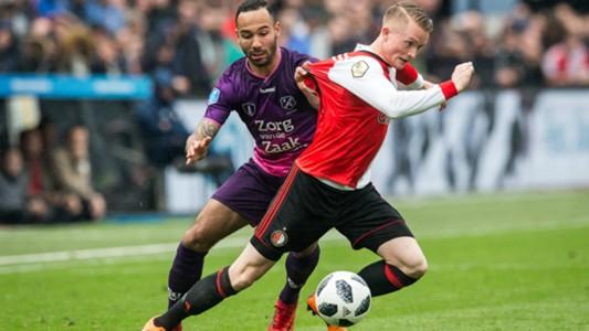 Sean Klaiber, Sam Larsson, Feyenoord - FC Utrecht, Eredivisie 04152018
