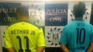 Neymar Lionel Messi Fans Arrest Brazil