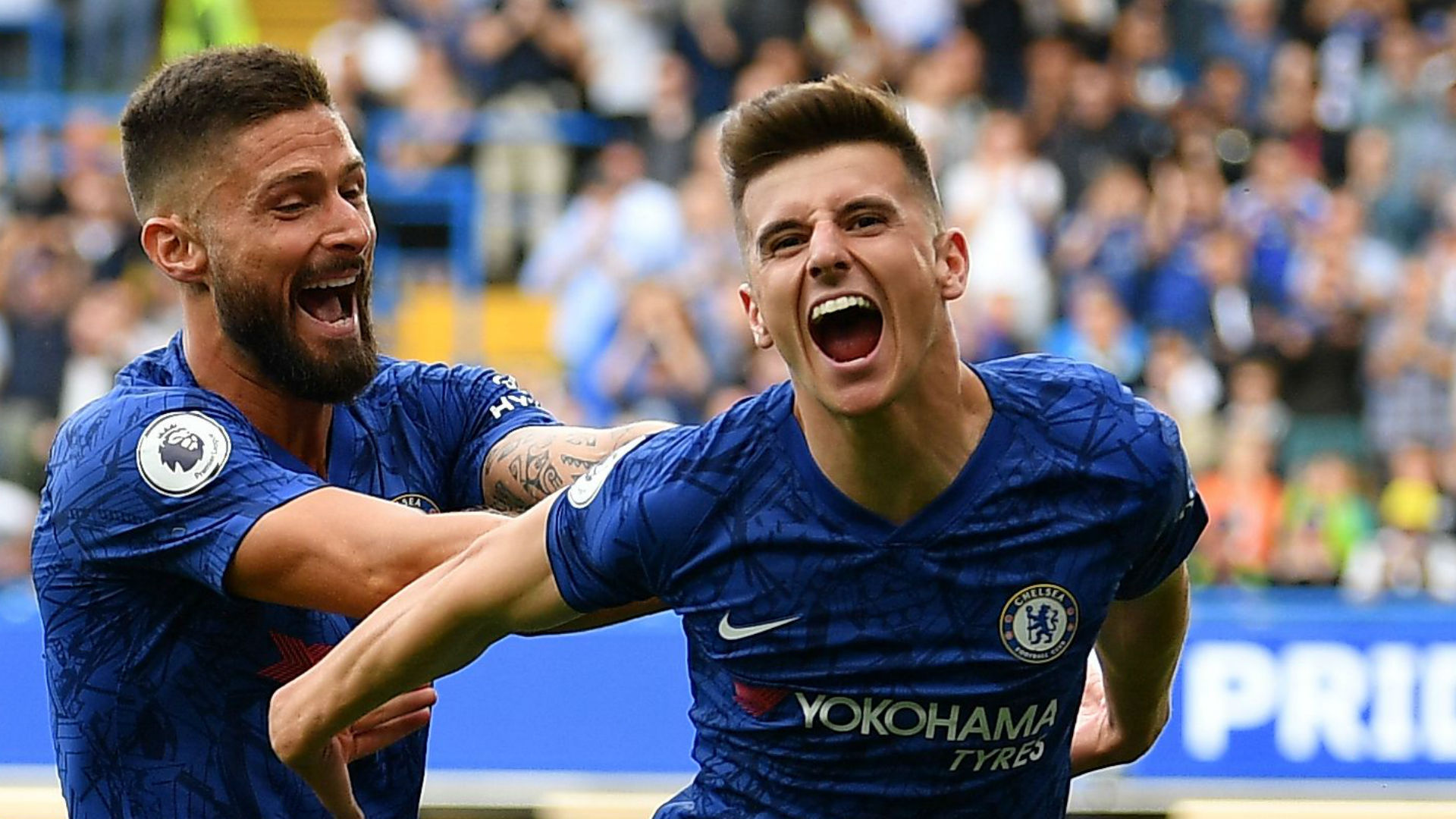 Olivier Giroud Mason Mount Chelsea Leicester City
