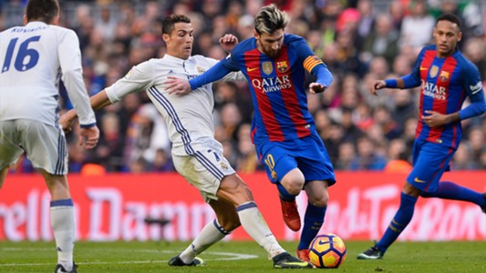Messi takes on Ronaldo