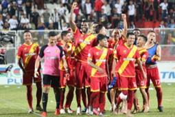Selangor celebrate their win against T-Team 2016