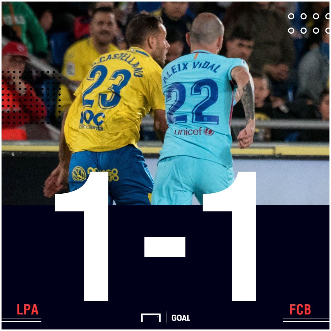 Las Palmas Barca score