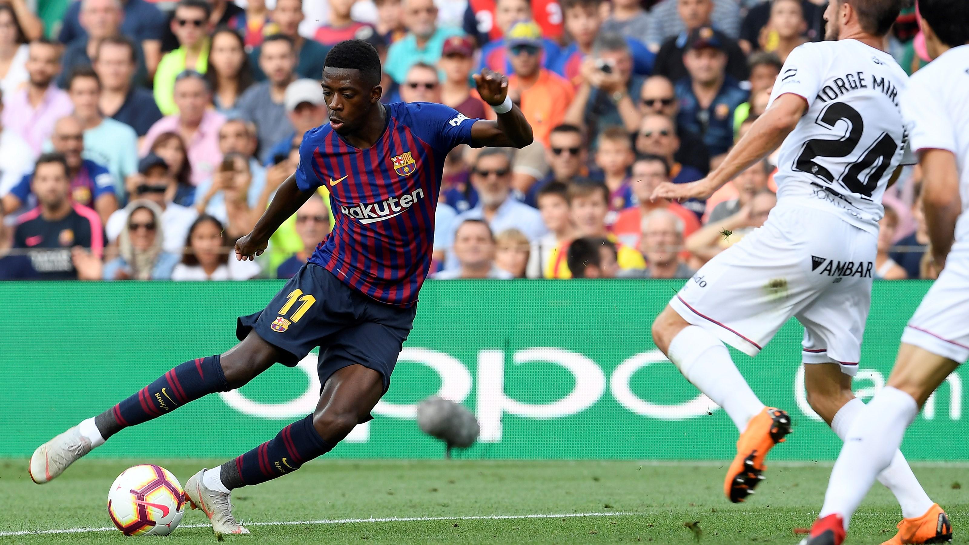 Ousmane Dembele Barcelona Huesca LaLiga 02092018