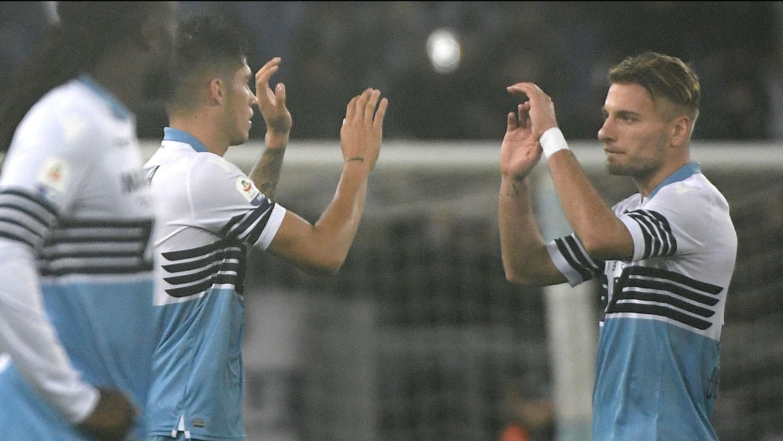 Joaquin Correa Ciro Immobile Lazio Milan Serie A