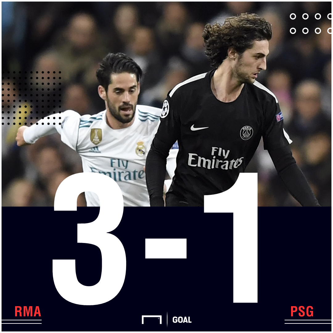 Real Madrid PSG score