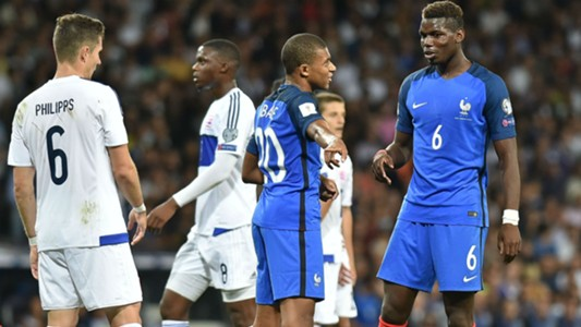 Kylian Mbappe Paul Pogba France Luxembourg World Cup Qualifiers 03092017