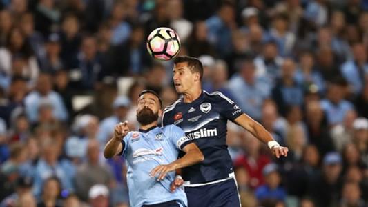 Alex Brosque Daniel Georgievski Sydney FC Melbourne Victory