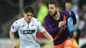 Bernardo Silva Manchester City Daniel James Swansea City FA Cup
