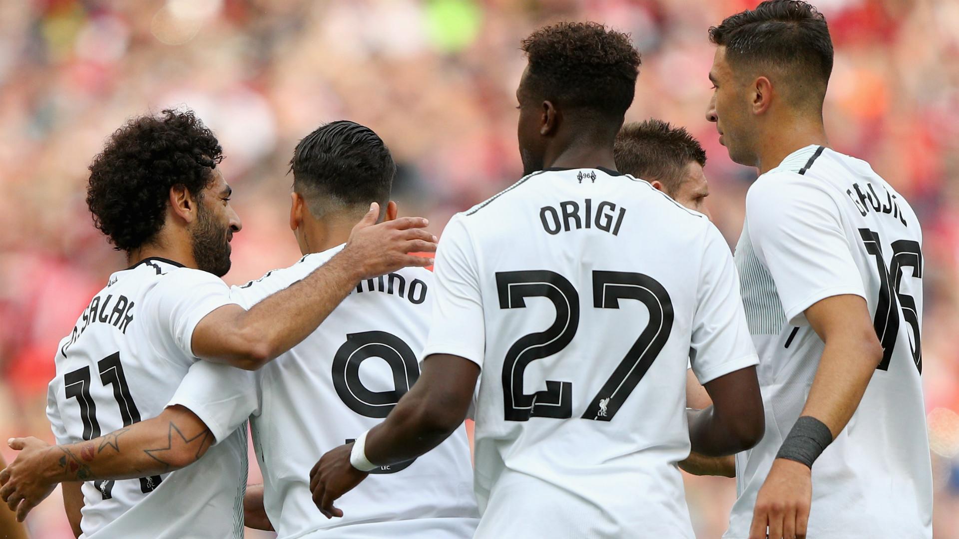 HD Salah Firmino Liverpool celebrate
