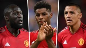 Romelu Lukaku Marcus Rashford Alexis Sanchez Man Utd 2018