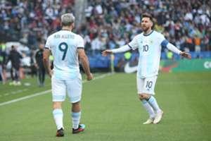 Aguero e Messi: dupla funcionou