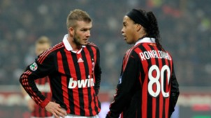 David Beckham Ronaldinho AC Milan