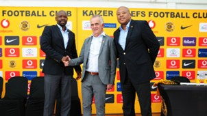 Steve Komphela, Rob Hutting and Bobby Motaung - Kaizer Chiefs