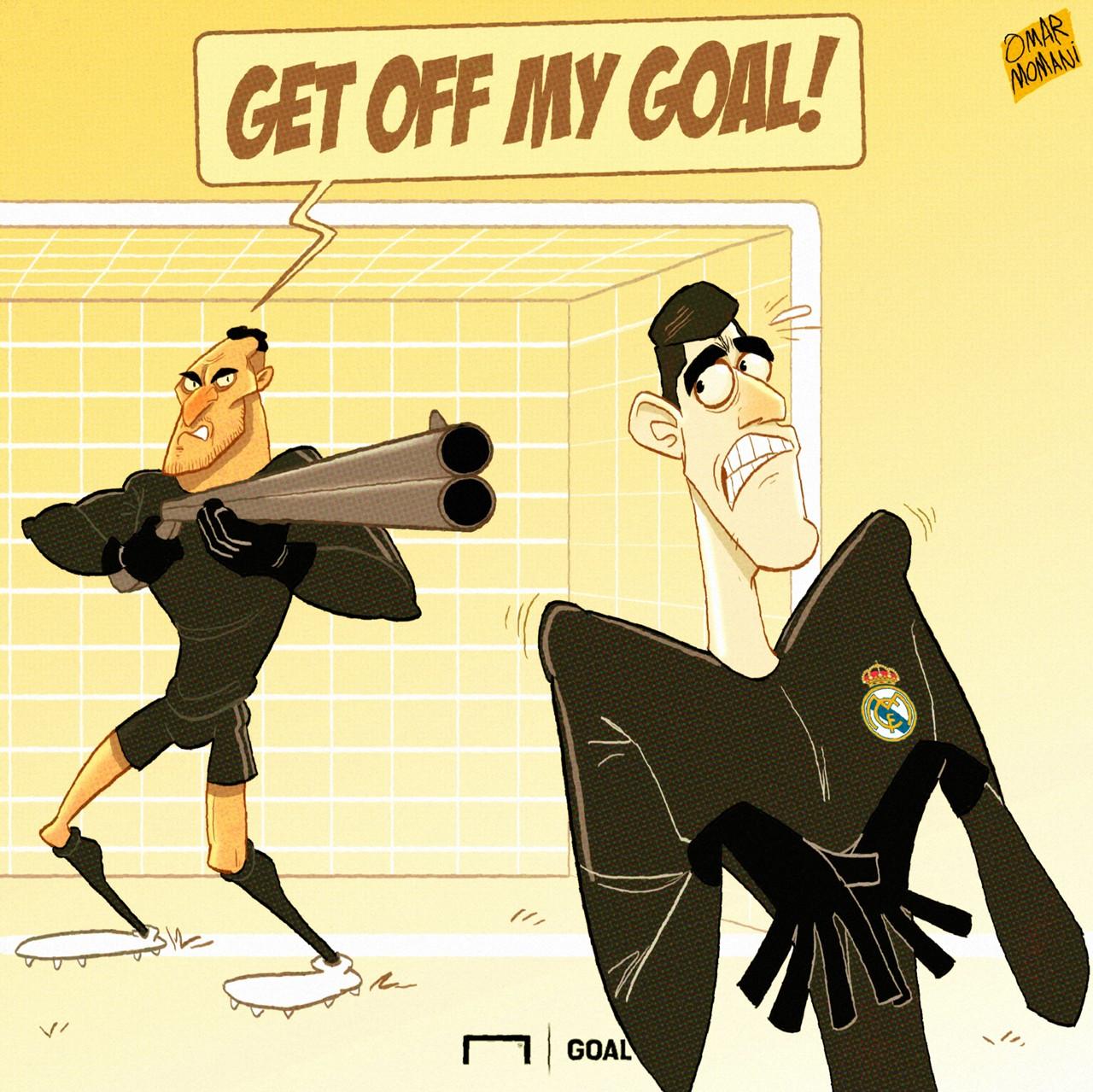 Cartoon Navas get off my lawn