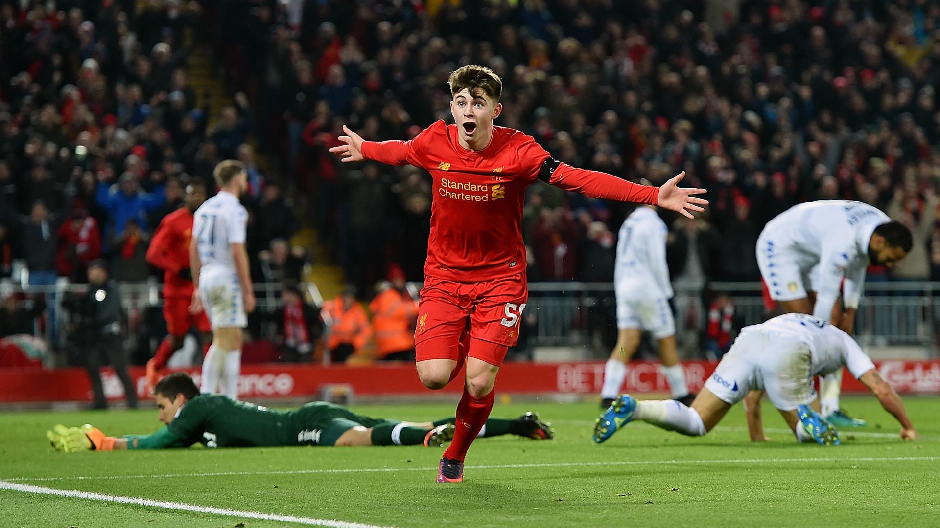 HD Ben Woodburn goal Liverpool v Leeds