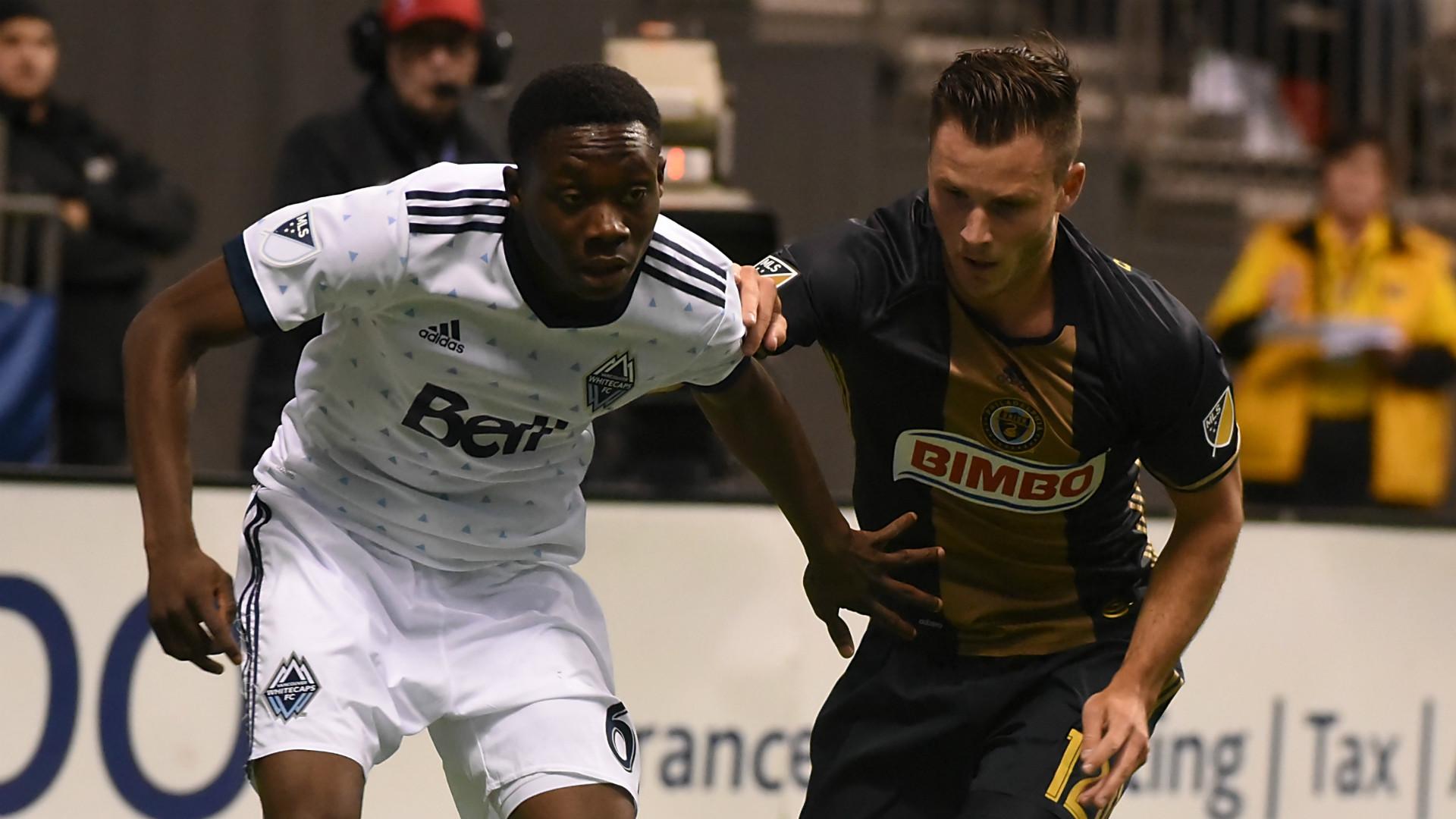 Alphonso Davies Keegan Rosenberry Vancouver Whitecaps Philadelphia Union