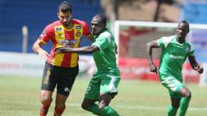 Gor Mahia player in action against Esperance.