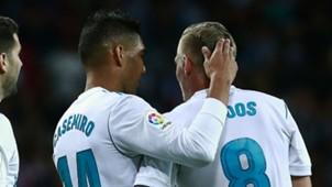 Casemiro Toni Kroos Real Madrid 2017-18