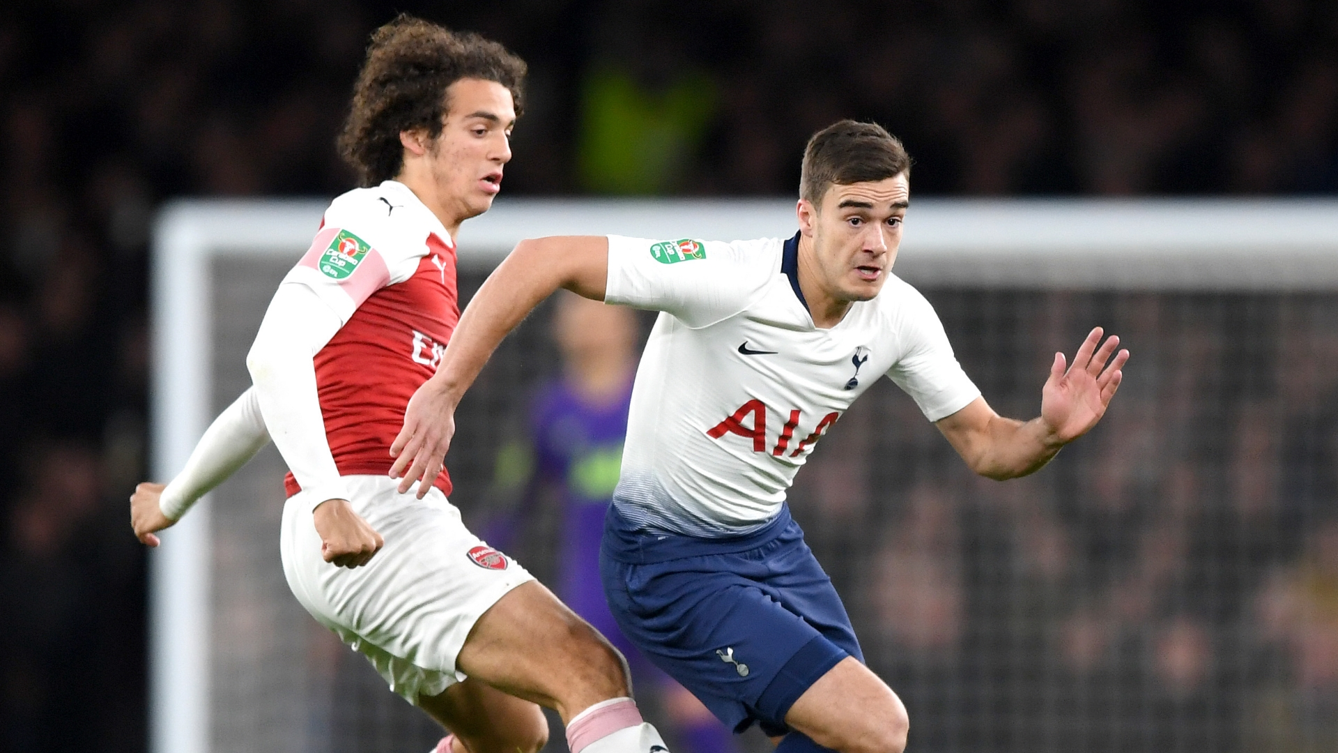 Matteo Guendouzi, Harry Winks, Arsenal vs Tottenham