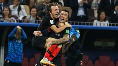 Luka Modric Mario Mandzukic Croatia World Cup 2018