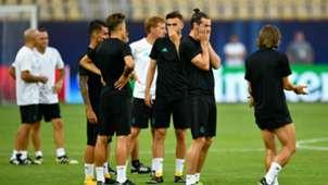UEFA Supercup - Manchester United - Real Madrid - Gareth Bale Luka Modric - Training