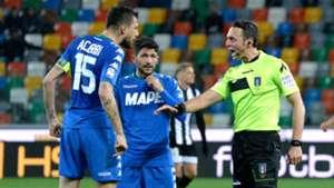 Francesco Acerbi Udinese Sassuolo Serie A 03172018