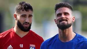 Nabil Fekir Olivier Giroud Lyon Chelsea