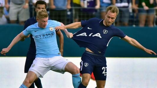 Kevin De Bruyne Christian Eriksen Manchester City Tottenham ICC