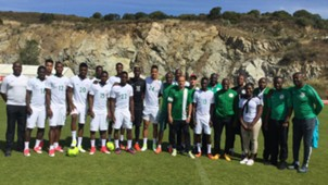 Super Eagles train in Corsica