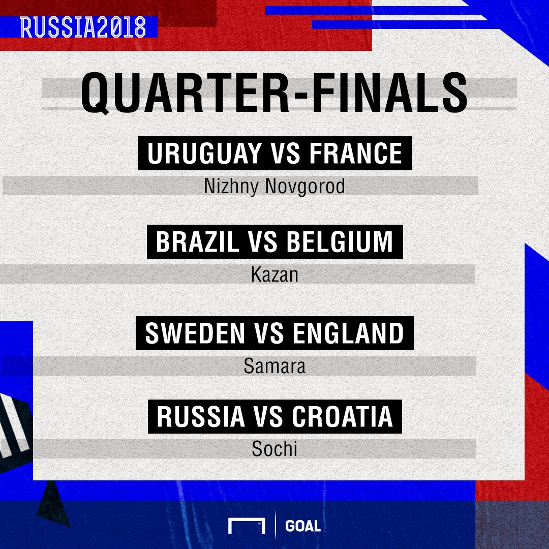 Quarter final lineup graphic