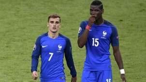 Paul Pogba Antoine Griezmann Portugal France UEFA Euro 10072016