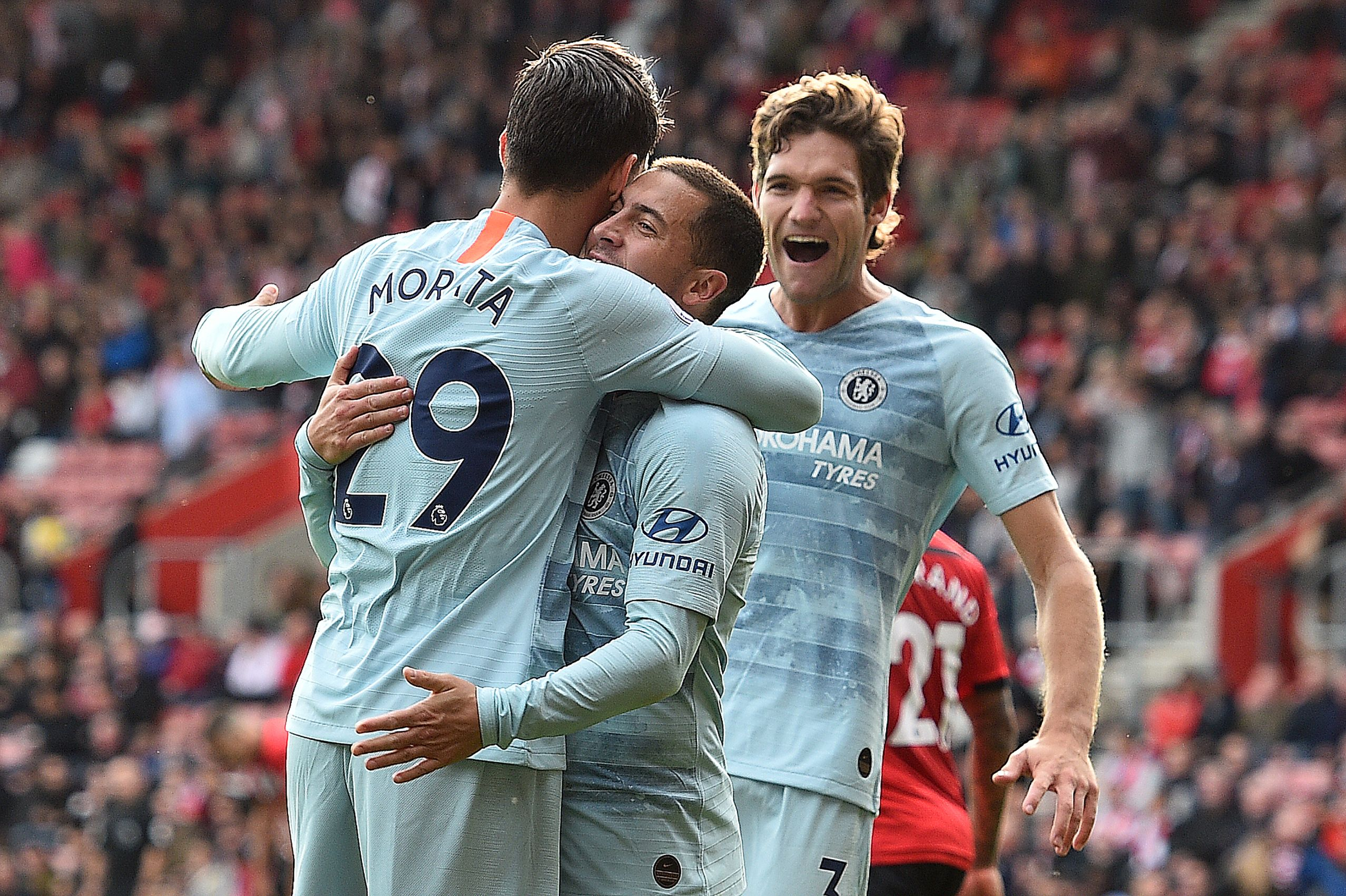 Image result for southampton 0-3 chelsea