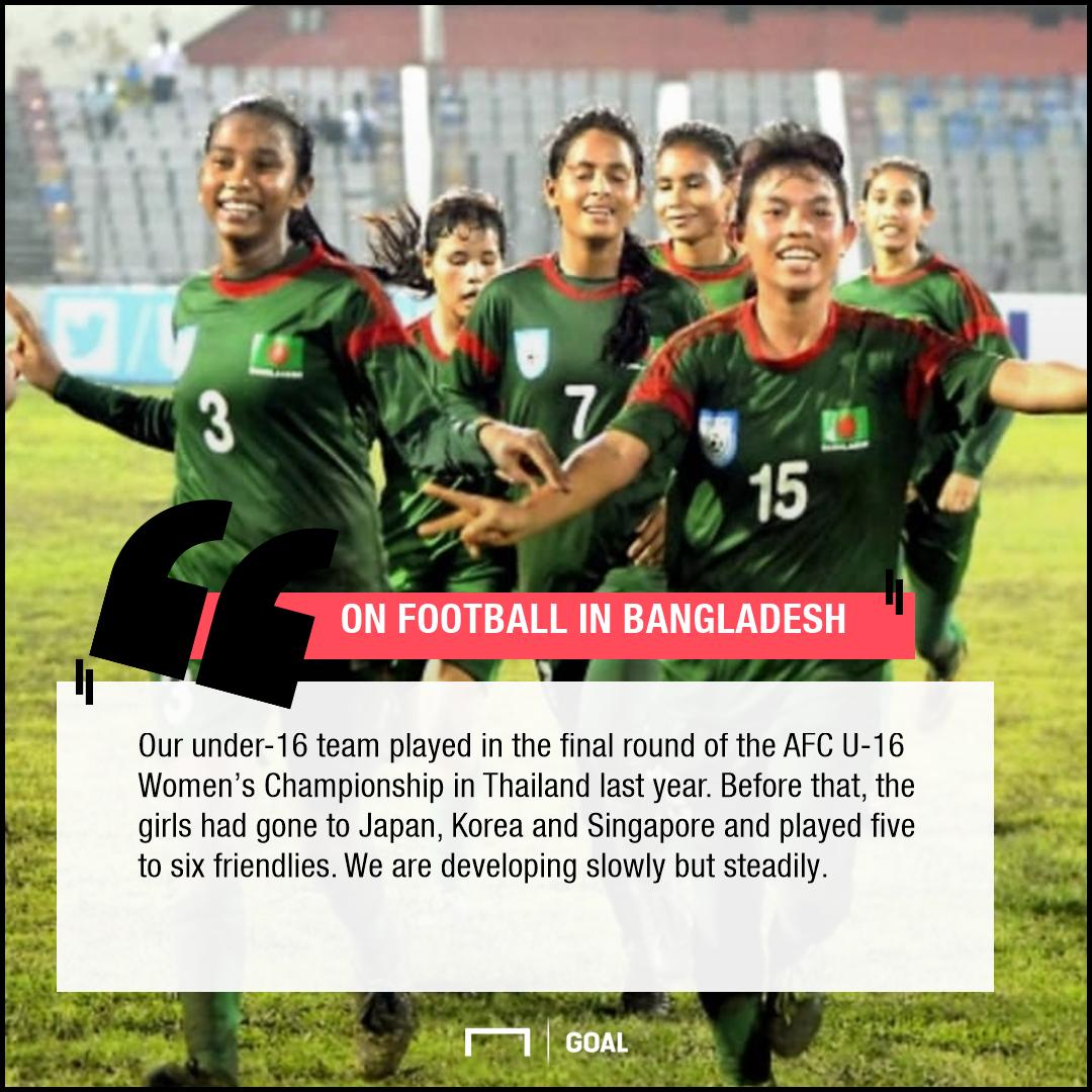 Sabina Khatun on women's football in Bangladesh