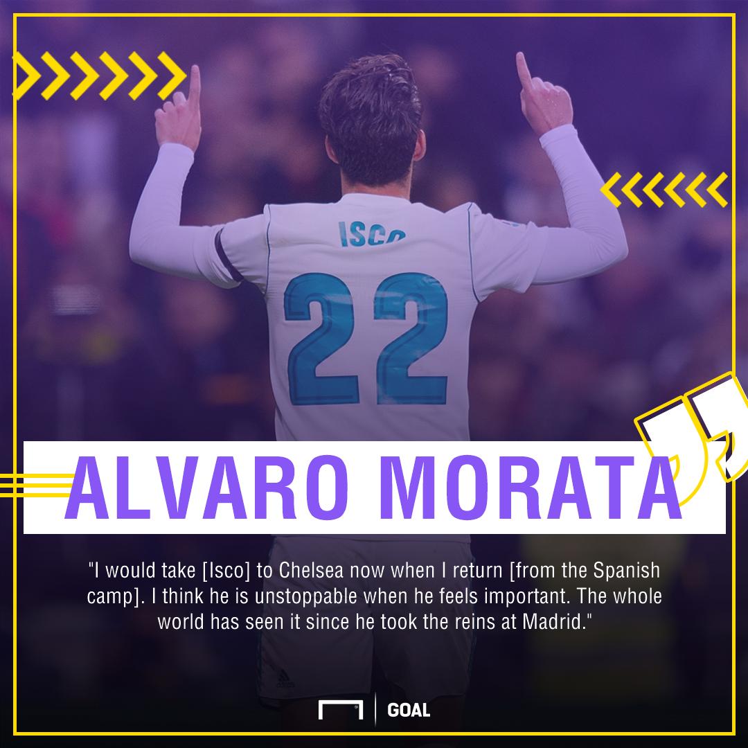 Alvaro Morata Isco to Chelsea