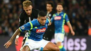Neymar Allan PSG Napoli UEFA Champions League 24102018
