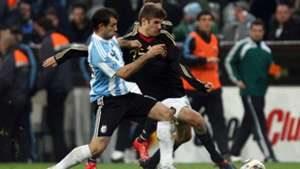 Thomas Müller Debut Germany Argentina 2010