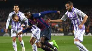 Ousmane Dembele Joaquin Barcelona Real Valladolid La Liga 16022018