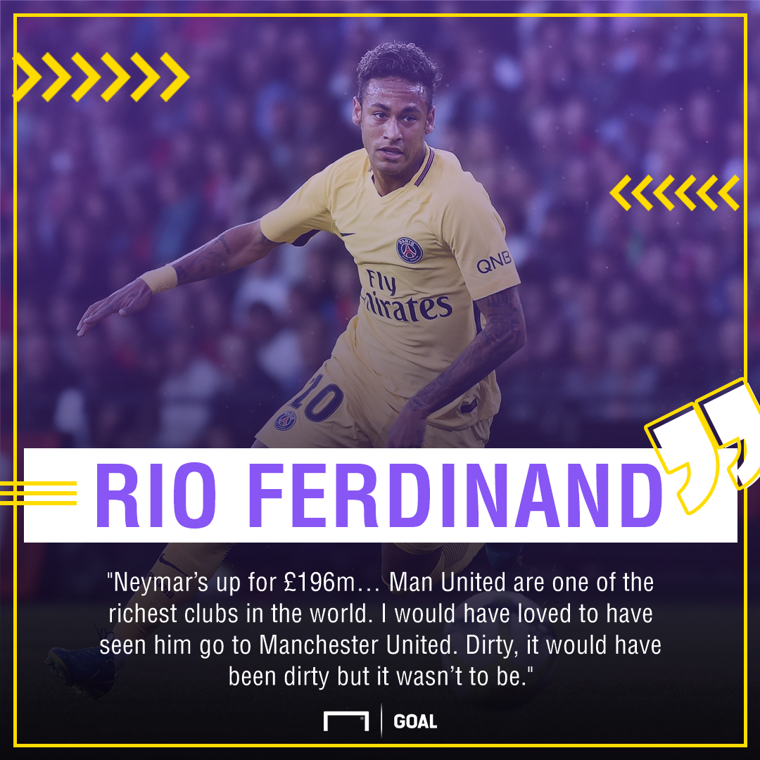 Rio Ferdinand Neymar Manchester United