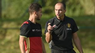 Eden Hazard Roberto Martinez Belgium
