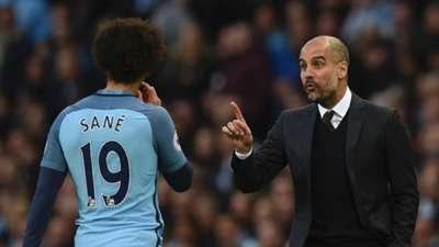 Leroy Sane Pep Guardiola Manchester City